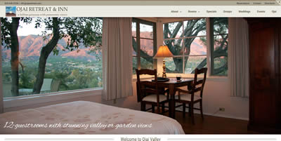 ojai retreat and inn an ojai valley bed and breakfast