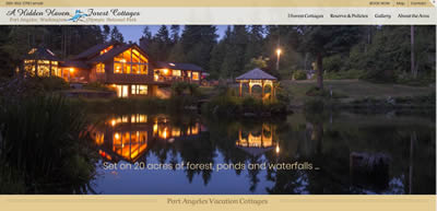 a hidden haven forest cottages, port angeles washington